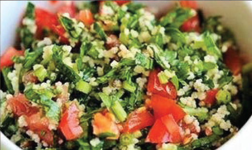 TABOUHLE SALADE- vegetarisch (Bestellen vanaf 1 Kg.)